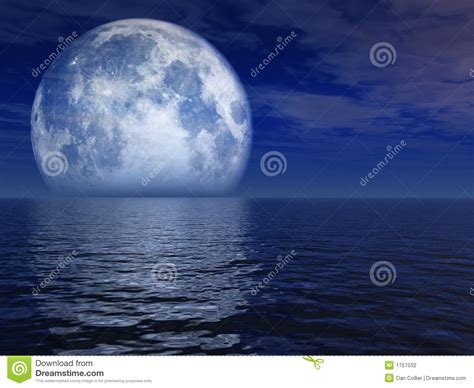 blue moon landscape stock photography image 1757032