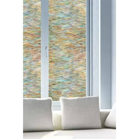 decorative window film home depot artscape 24 in x 36 in water colors decorative window