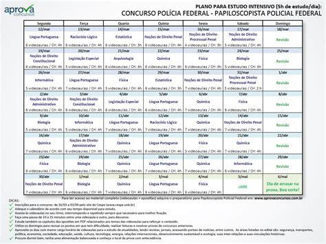 William Douglas Calendario De Estudos Plano De Estudos Para Concurso Da Pol 237 Cia Federal