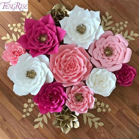 fengrise pcs cm diy paper flowers backdrop decorative