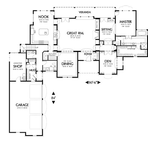 farnsworth house floor plan dimensions groveland 2716 3 bedrooms and 3 baths the house designers