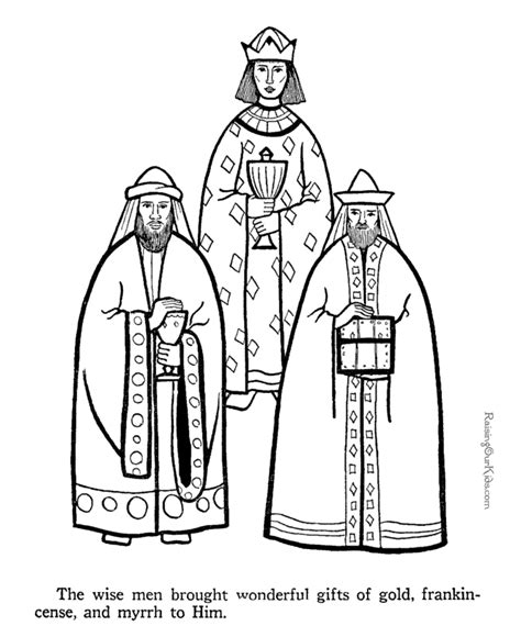 free coloring pages of we three kings
