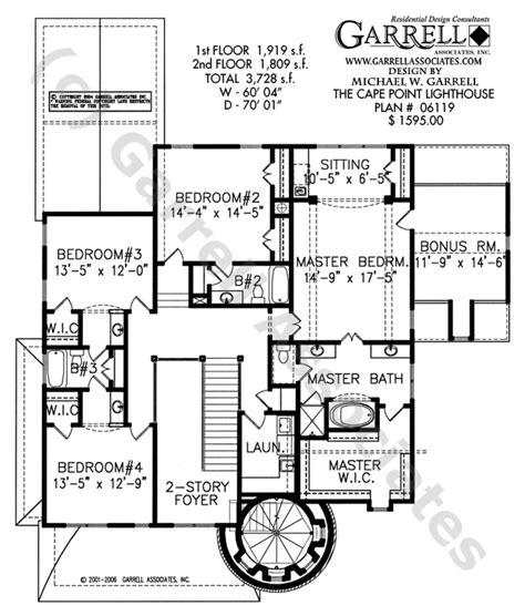 lighthouse floor plans cape point lighthouse house plan coastal house plans