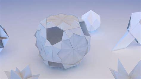 origami geometric origami geometric 3d model max obj 3ds fbx mtl cgtrader