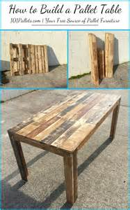diy how to build a pallet table 101 pallets