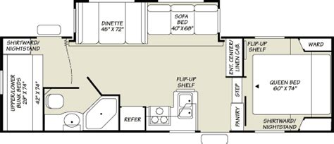 fleetwood 5th wheel floor plans 2007 fleetwood wilderness scout fifth wheel rvweb com
