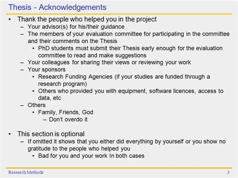 thesis acknowledgement colleague research methods technical writing thesis conference