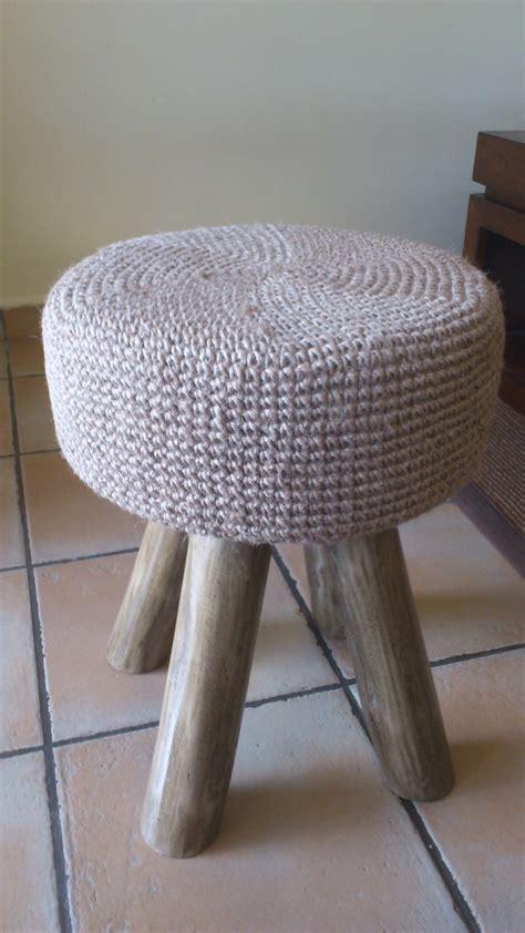 taburete la cuerda taburete tejido en crochet con cuerda tejidos para ideas