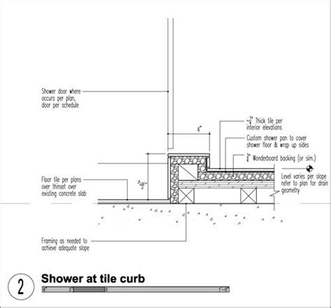 Shower Curb Height by Build Llc Shower Tile Curb Indoor