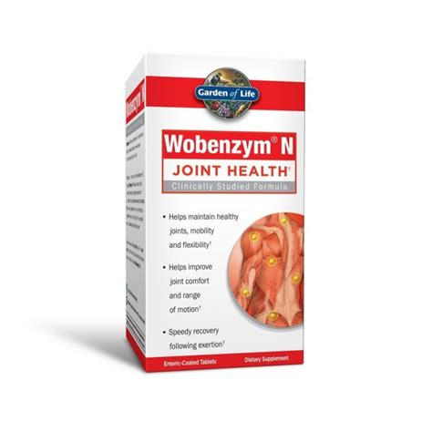 Garden Of Joint Health Wobenzym N Joint Health 100 Tablets Garden Of