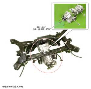 hyundai tucson rear differential carrier components and