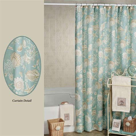 showers curtains natural shells shower curtain