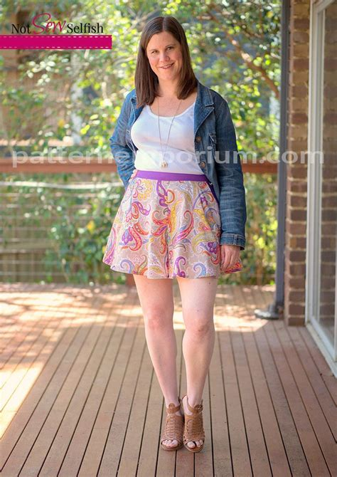 Pattern Emporium Swing Shorts | ladies swing shorts sewing pattern in tailored or easy fit