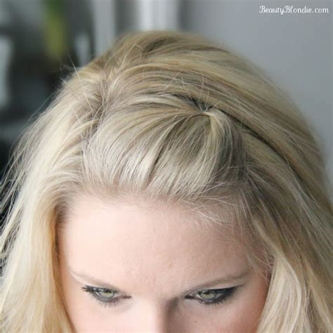 clipped bang poof side bang pin back poof using just 1 bobby pin video
