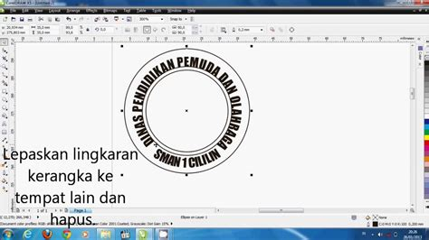 membuat logo corel draw x5 tutorial corel draw x5 membuat logo