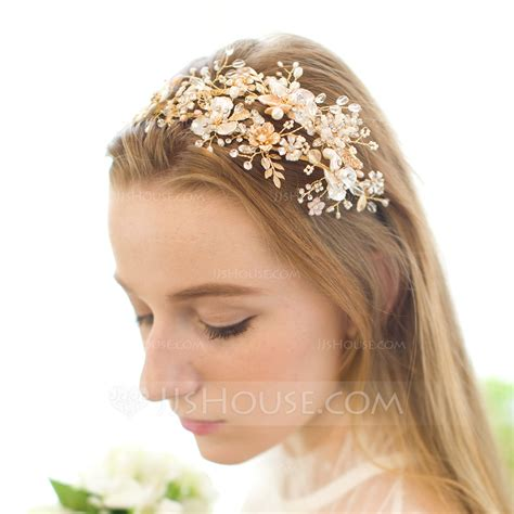 Headbands Handmade - handmade alloy freshwater pearl headbands 042076333