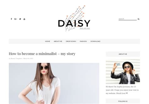 templates blogger clean daisy clean blogger template blogspot templates 2018
