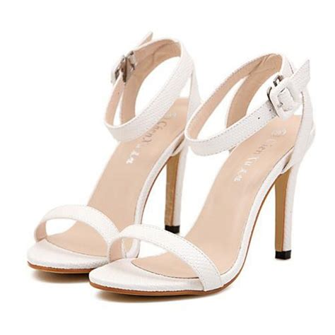 high heels sandals pics white snakeskin effect strappy high heel sandals