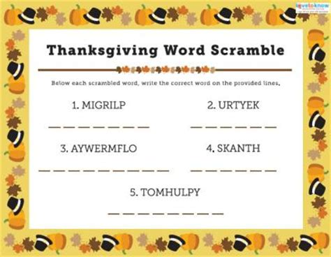 printable thanksgiving word games adults free thanksgiving games for children lovetoknow