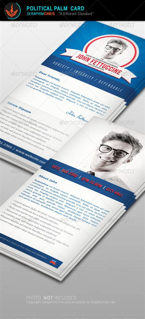 Political Palm Card Template Word by Political Palm Card Template By Seraphimchris Graphicriver