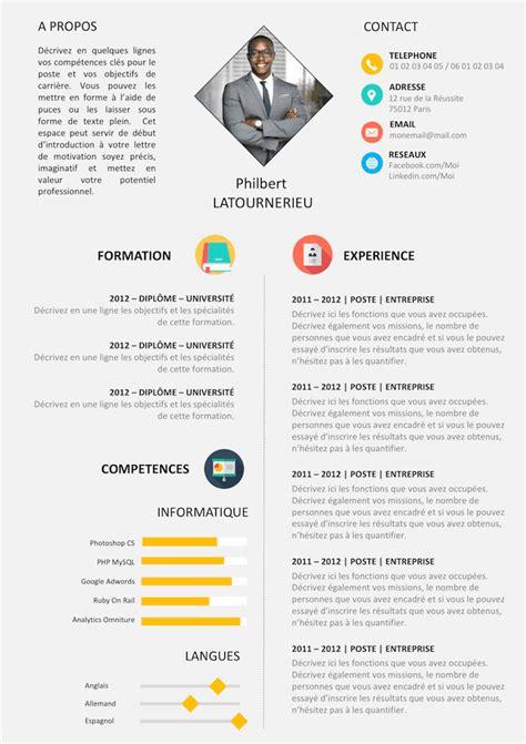 Formulaire De Cv by Modele Cv Gratuit Vierge Telecharger Document