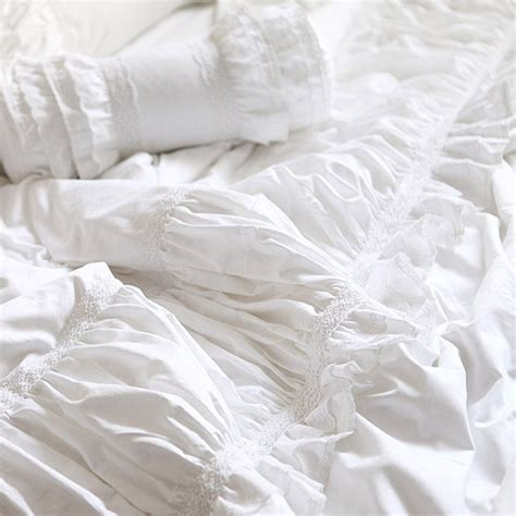 white lace comforter lace bedding set