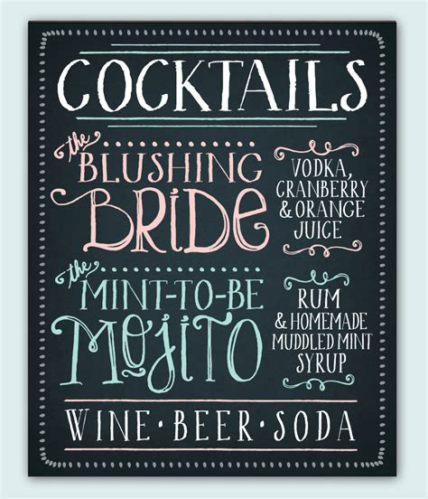 best 25 wedding signature drinks ideas on pinterest