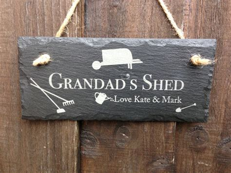 Shed Sign by Personalised Shed Sign In Slate Personalised Garden