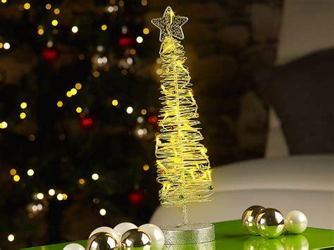 lunartec leuchtender weihnachtsbaum 40cm aus filigranem