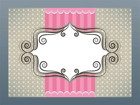 girly card template