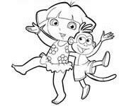 dora swimming coloring pages dora coloring lots of dora coloring pages and printables