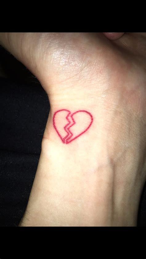 broken heart tattoo broken wrist broken tattoos
