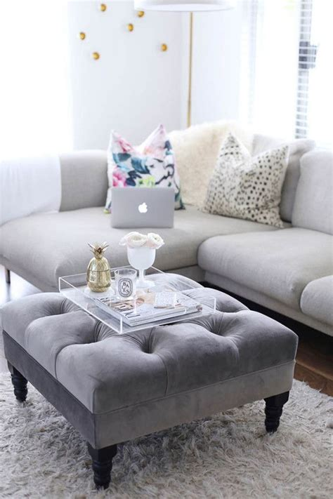 how to decorate an ottoman best 25 coffee table tray ideas on coffee