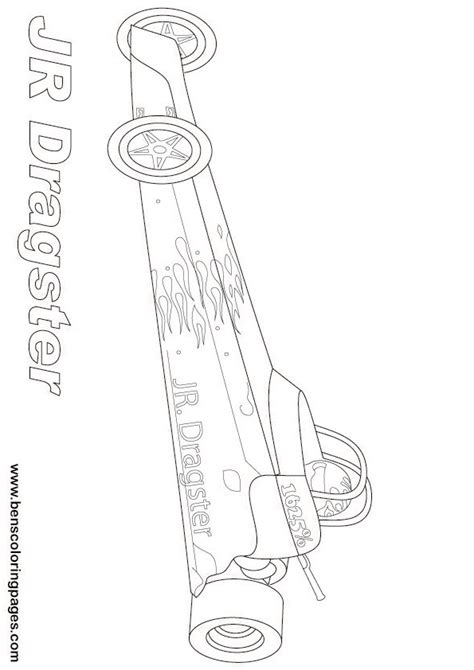 Dragster Coloring Pages free drag racing coloring pages