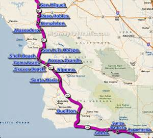 map of highway 101 california highway 101 santa barbara san luis obispo traffic conditions