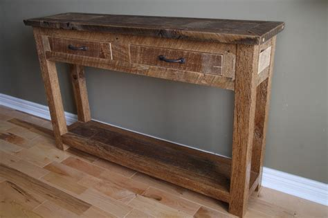 barn wood sofa table 19 best images about barnwood furniture on pinterest