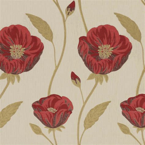 curtain fabric red belfield furnishings freesia red floral made to measure