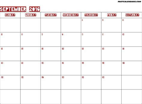 blank calendar september 2016 blank 2016 year calendar calendar template 2016
