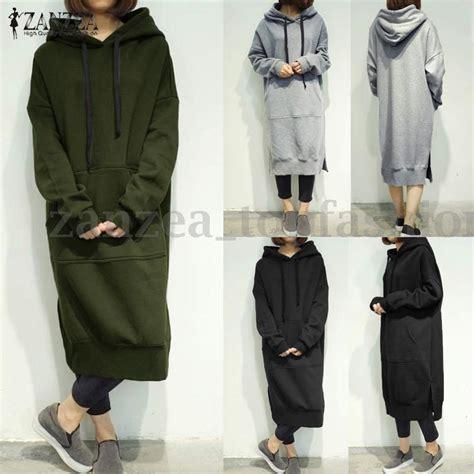 Mv Dress Hoodie W zanzea s sleeve casual plus sweatshirt