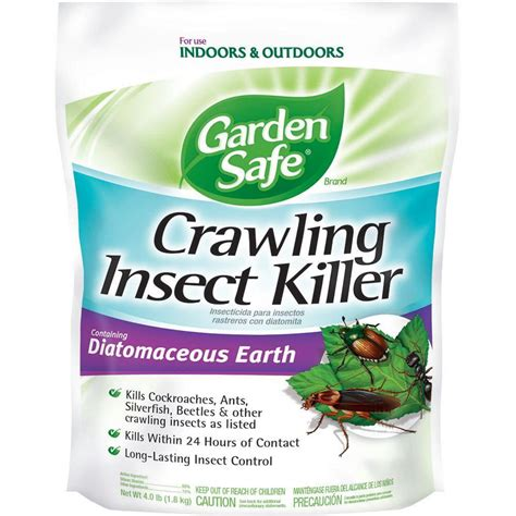 garden safe 4 lb diatomaceous earth crawling insect
