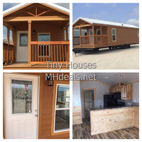One Bedroom Loft Mobile Homes 1 Bedroom Tiny Cabin With Porch Tiny Houses Manufactured