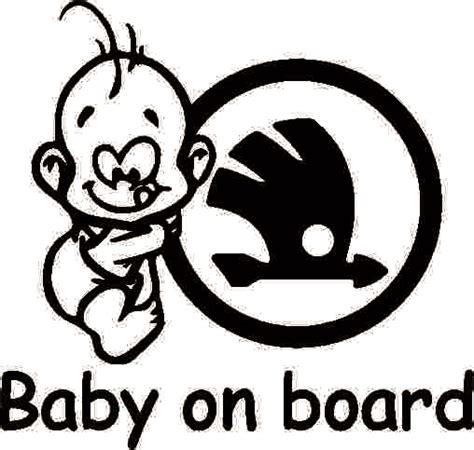 Auto Sticker Baby by Sticker Auto Baby On Board Skoda