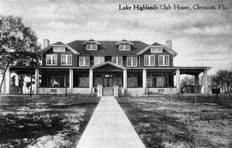 Clermont County Court Records Florida Memory Lake Highlands Club House Clermont Florida