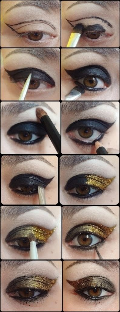 how to create a stylish black and gold 3d text effect in 14 stylish smoky eye makeup tutorials pretty designs