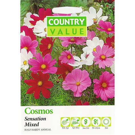 Country Value Marigold Mixed bunnings country value country value mixed sensation cosmos flower seeds compare club