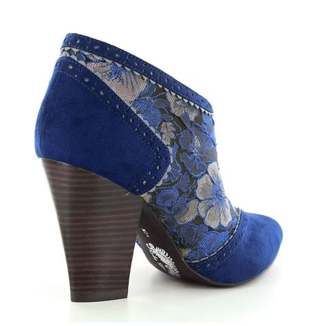 ruby shoo nicola womens ankle boots blue