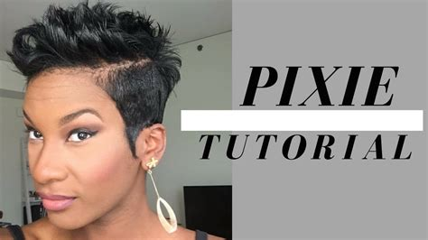 Black Hairstyles 2017 Tutorial by Flips And Spikes Pixie Tutorial 2017 Hair Styles
