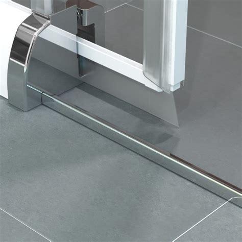 Impressionnant Silicone Salle De Bain #6: porte-coulissante-java-sans-seuil-85-92cm-profile-blanc-verre-depoli---kinedo-ref-pa625bdte-image-427192-grande.png