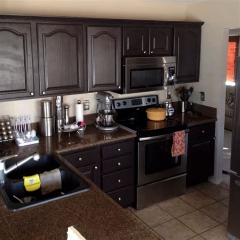 Dark Brown Cabinets Kitchen by Quot New Quot Dark Brown Cabinets Kitchen Ideas Pinterest