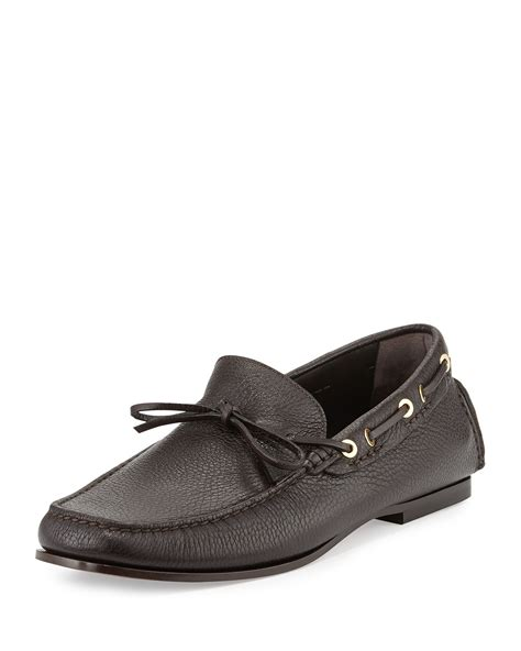 tom ford mens loafers tom ford pebbled driving loafer in brown for